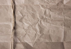 Texture of crumpled paper. Twine, packing Royalty Free Stock Photos