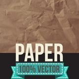 Texture of crumpled paper. Vector illustration. Stock Photo