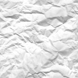 Texture of crumpled white paper Royalty Free Stock Photo