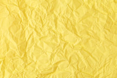 Texture of crumpled Yellow paper. Texture, background, scrub-booking with mint Yellow paper Stock Photography