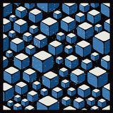 Texture with cubes in retro style. Stock Photography