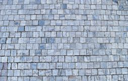 Texture of cubic stone paving on street. Stock Photography