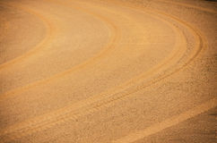 Texture curve wheel track Royalty Free Stock Photo