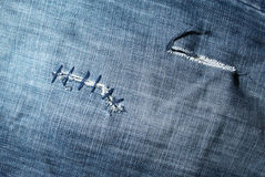 Texture of cut jeans Stock Photo