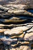 Texture déchiquetée de roche Photo libre de droits