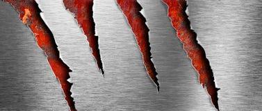 Texture déchirée en métal au-dessus de contexte grunge rouillé Image stock