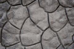 Texture décorative géométrique de modèle sur le mur en béton de ciment Photos libres de droits