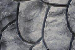 Texture décorative géométrique de modèle sur le mur en béton de ciment Images stock
