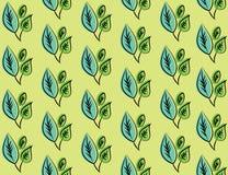 Texture décorative sans couture de calibre avec les feuilles vertes Photos libres de droits