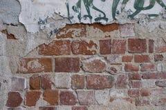 Texture dégradée de mur de briques Image libre de droits