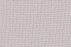 Texture détaillée blanche de fond de matériel de textile Photos libres de droits