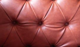 Texture détaillée de tapisserie d'ameublement en cuir brune plissée de remplissage, Ba images libres de droits