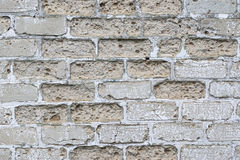 Texture détaillée Mur de briques sale Fond de cru Images stock