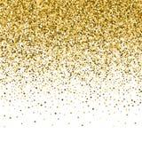 Texture d'éclat de scintillement d'or sur un fond noir Explosion d'or des confettis Photo libre de droits