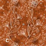 Texture d'été de fleur avec des oiseaux illustration libre de droits