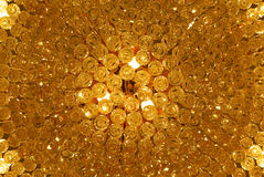 Texture d'or Photographie stock
