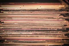 Texture d'album de disque vinyle Images stock