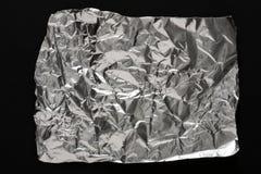 Texture d'aluminium froissée par argent pour le fond photographie stock
