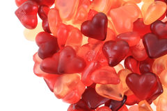 Texture d'amour de coeurs de sucrerie de gelée Images libres de droits