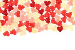 Texture d'amour de coeurs de sucrerie de gelée Photographie stock