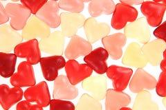 Texture d'amour de coeurs de sucrerie de gelée Photo libre de droits