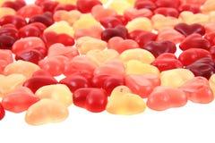Texture d'amour de coeurs de sucrerie de gelée Images stock