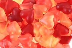 Texture d'amour de coeurs de sucrerie de gelée Photos libres de droits