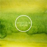 Texture d'aquarelle dans des tons verts et jaunes images libres de droits