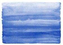Texture d'aquarelle de bleu marine avec le bord inégal et arrondi Photos libres de droits