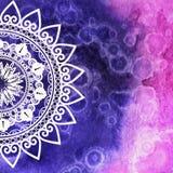 texture d'aquarelle mandala Pour la carte illustration de vecteur