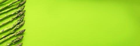 Texture d'asperge verte fraîche, vue supérieure photographie stock