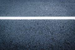 Texture d'asphalte avec la ligne blanche images libres de droits