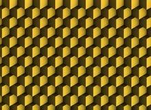 texture 3d d'or avec des ombres et des cubes Illustration Libre de Droits