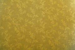 Texture d'or de décoration de papier peint Photo libre de droits
