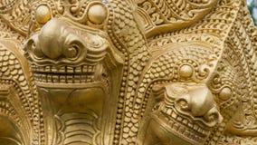 Texture d'or de dragon Photo stock