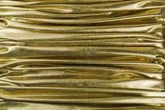 Texture d'or de tissu Image libre de droits