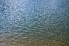 Texture d'eau de rivière souillée Les conséquences de la source de pollution Images stock