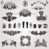 Texture d'houblon de tasse d'élément de cru de bière vieille Photographie stock