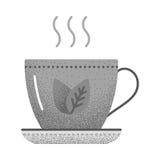 Texture d'icône de thé rétro Photographie stock libre de droits