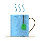 Texture d'icône de thé rétro Images stock