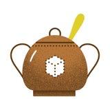 Texture d'icône de thé rétro Image libre de droits