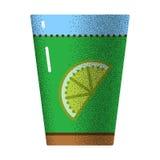 Texture d'icône de thé rétro Photos stock