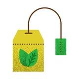 Texture d'icône de thé rétro Image stock