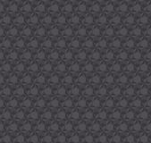 Texture 3d illusion dark gray seamless pattern. Royalty Free Stock Photos