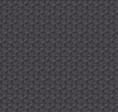 Texture 3d illusion dark gray seamless pattern. Stock Photos