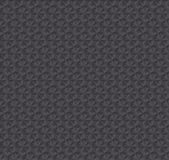 Texture 3d illusion dark gray seamless pattern. Royalty Free Stock Photography