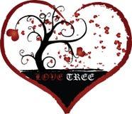 Texture d'illustration de vecteur d'arbre d'amour Images libres de droits
