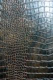 Texture d'imitation de peau de crocodile de Brown images stock