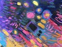 Texture d'impressionisme, fond vibrant de couleur, papier peint de peinture impressionniste d'art photos libres de droits