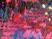 Texture d'impressionisme, fond vibrant de couleur, papier peint de peinture impressionniste d'art image libre de droits